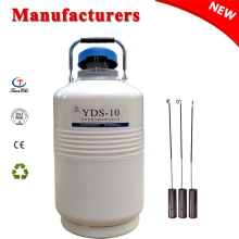 Cryogenic Dewar Cylinder Tank 10L Liquid Nitrogen Container 10 Liter 50 mm Diameter Semen Flask 2018 New цена и фото