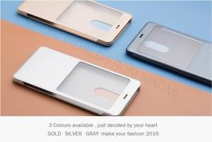 Image 5 - 100% Original xiaomi REDMI NOTE 4 flip case Chinese MTK Helio x 20 / Global Version Snapdragon Cover ( 5.5 inch )