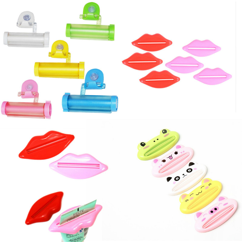 1Pcs Top Sale Sexy Hot Lip Kiss Bathroom Tube Dispenser Toothpaste Cream Squeezer Home Tube Rolling Holder Squeezer