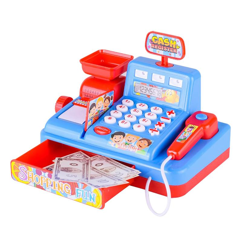 все цены на Kid's toy Supermarket cash register simulation cash register children's early education toy cashier play house calculator toy онлайн