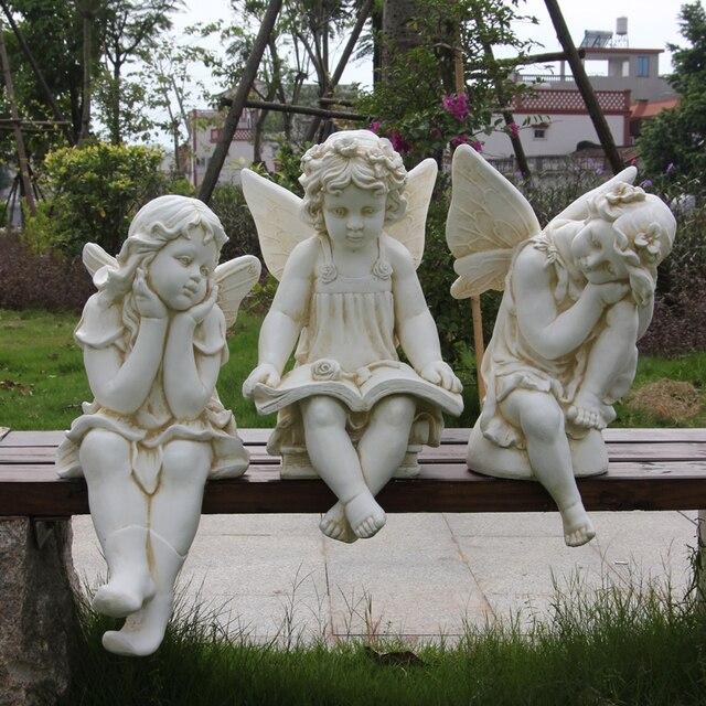 Escultura Jardin Muebles Angel Lectura Universidad Y Artesanias - Escultura-jardin