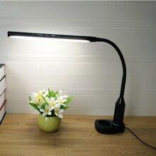 LED Настольная лампа Защита глаз USB Светодиодная лампа три уровня touch Управление диммер клип на свет книга для чтения лампа Светодиодные настольные лампы