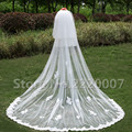 2017 Grace Three-Layer Wedding Veils Cut Edge Lace Appliques Ruffles Elegant White Adult Wedding occasion Bridal Veils With Bob