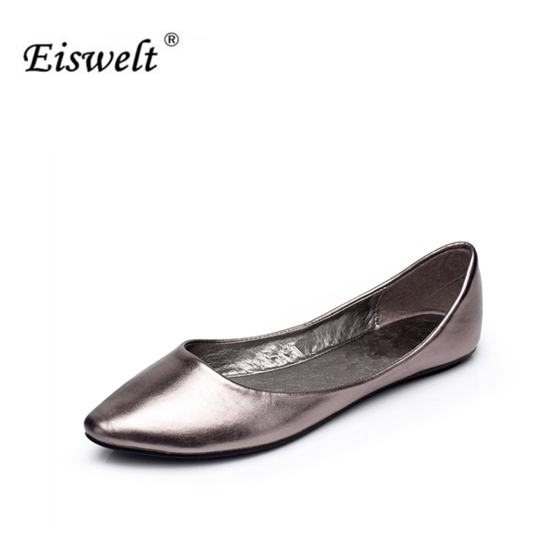 EISWELT New 2017 Spring Summer Women Flats Fashion Sexy Flat Shoes Woman Casual Shoes Women Boat Shoes Size35-40 #LQ20 new 2017 spring summer women shoes pointed toe high quality brand fashion womens flats ladies plus size 41 sweet flock t179