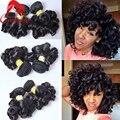 Brazilian Bouncy Curly Human Hair Bundles 3pcs/lot 100g Funmi Spring Curly Short Virgin Brazilian Human Hair Extensions Weaves