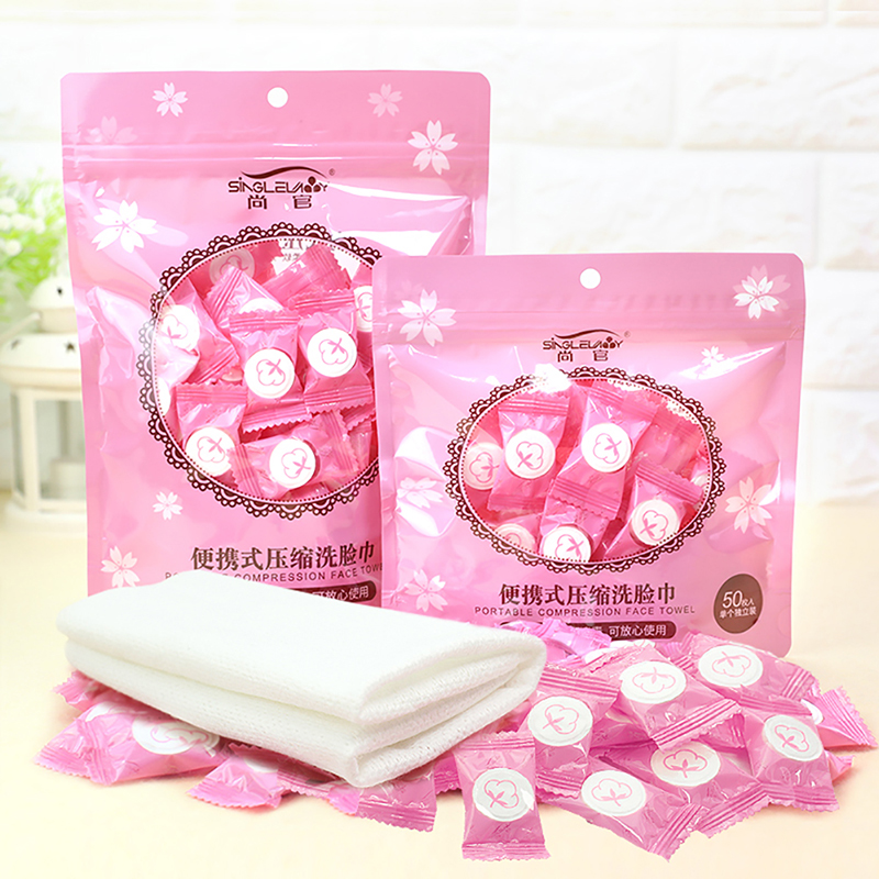 30/50/100pcs Portable Travel Cotton Compressed Towel Expandable Mini Face Care Healthy Cleansing Towel For Outdoor Sports Travel
