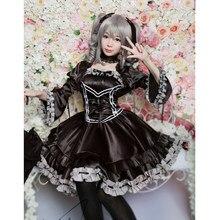 Nova roupa cosplay anime kanzaki ranko cos gótico vestido feito sob encomenda 11