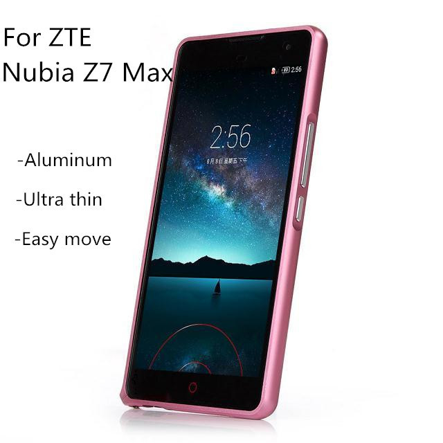 Ultra Thin Protective aluminum Phone Bumper For ZTE Nubia Z7 Max Metal cover case ZTE Z7max NX505J Metal Frame Free shipping