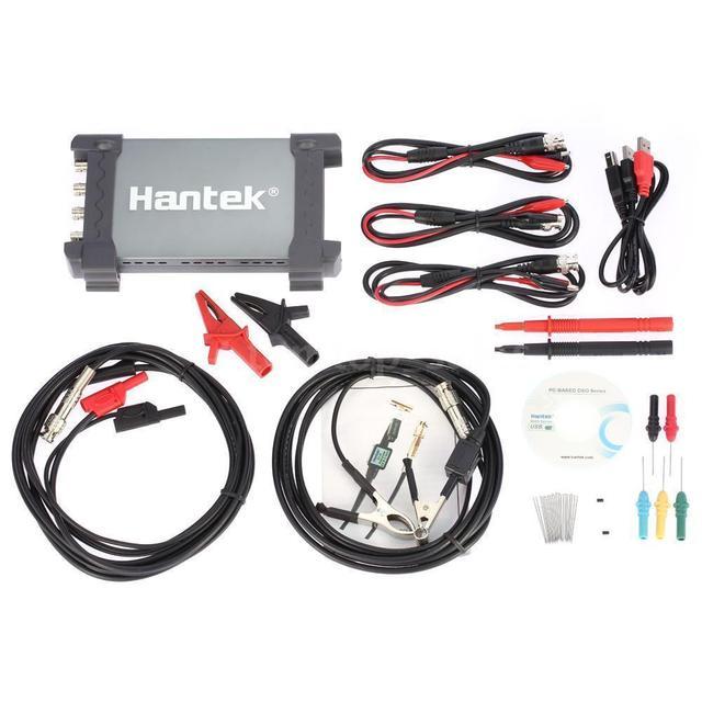 Big Sale Hantek 6254BE Digital Storage Oscilloscope USB PC Osciloscopio 4 Channels 250Mhz Bandwidth Automotive Oscilloscopes