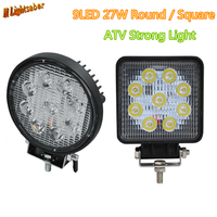 2pcs 4 Inch 27W LED Work Light For Indicators Motorcycle Driving Offroad Boat Car Tractor Truck