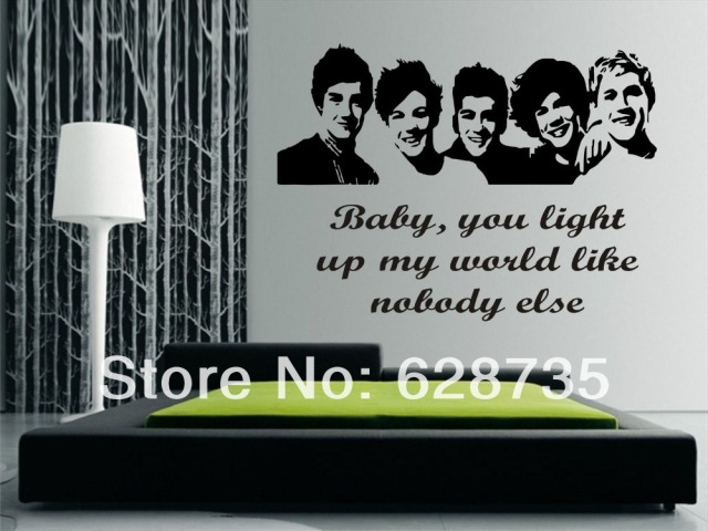Large Size 100x57cm One Direction 1D Vinyl Teen Bedroom Art Mural Wall  Decals Stickers Paper, Part 60