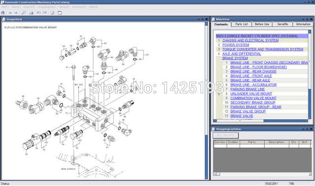 Kawasaki Wheel Loaders spare parts catalogsin Software