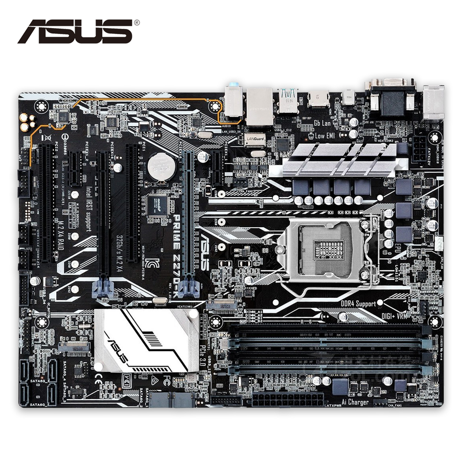 Asus PRIME Z270-K Desktop Motherboard Z270 LGA 1151 DDR4 64G SATA3 USB3.1 ATX aputure ls c300d cri 95 tlci 96 48000 lux 0 5m color temperature 5500k for filmmakers 2 4g remote aputure light dome mini