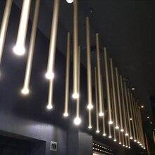 Led pós moderna criativo diâmetro 3cm magro downlight arte estilo teto spotlight galvanoplastia 8 cores decoração 6 opções de tamanho