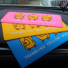 car decoration New small yellow duck anti-skid pad  insulation large mat accessory