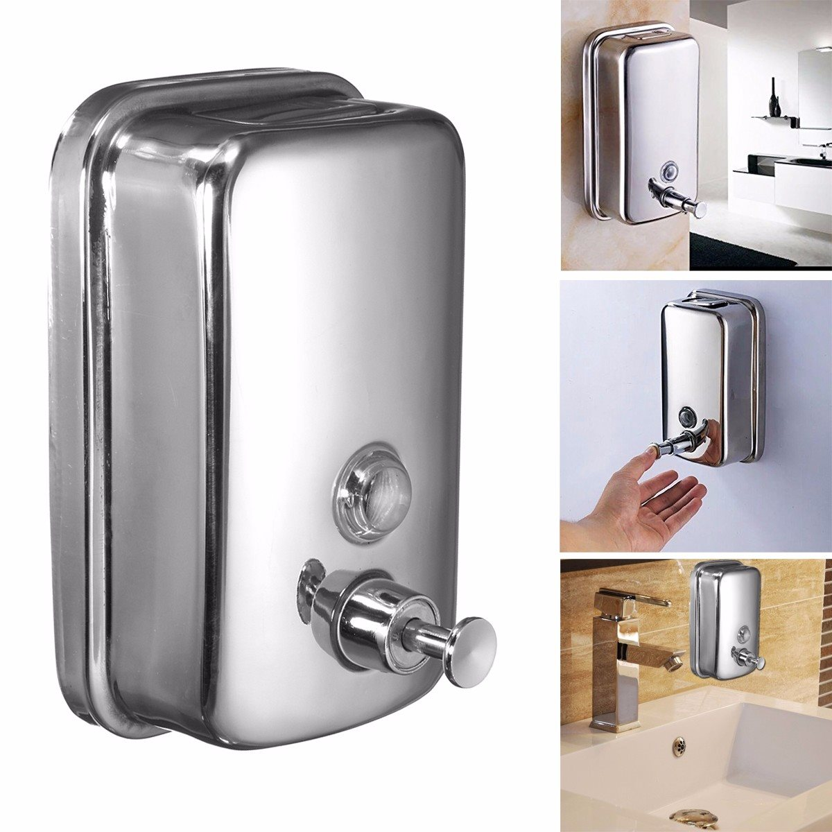 online buy wholesale contemporary soap dispenser from china  - stainless steel soap dispensers contemporary bathroom wall mounted mlshower shampoo boxes  sizes(china