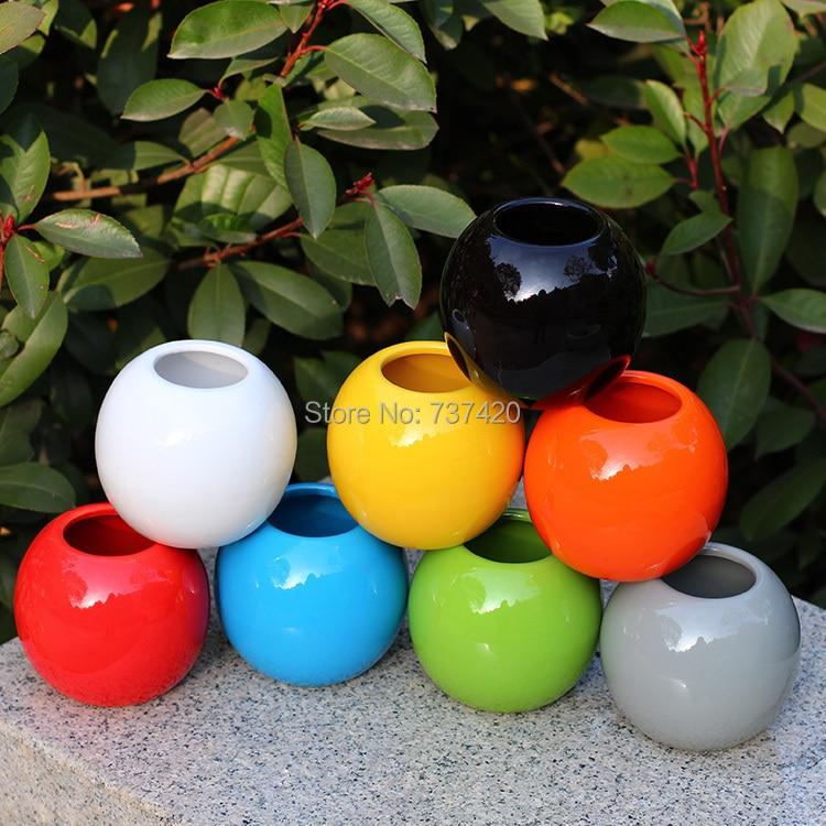Where To Buy Ceramic Planters Part - 27: Order: 1 Piece. 3PCS\LOT New Nursery Pots 10cm*10cm Colorfull Ceramics Pots  Round Planters Garden Pots