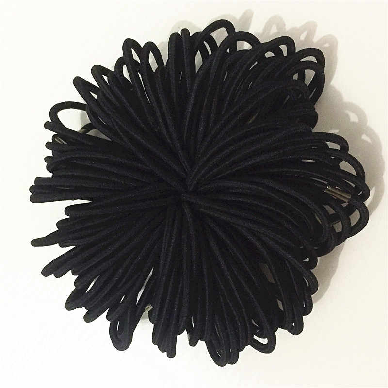 1packs Black Elastic Hairbands for Girls Fashion Women Scrunchie Gum for Hair Accessories Elastic Hair Bands