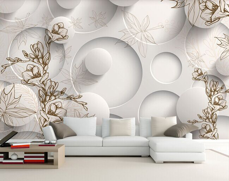 beibehang contact paper Luxury wallpaper wall mural papel de parede floral  photo wall paper ceiling murals photo wallpaper 3d-in Wallpapers from Home  ...