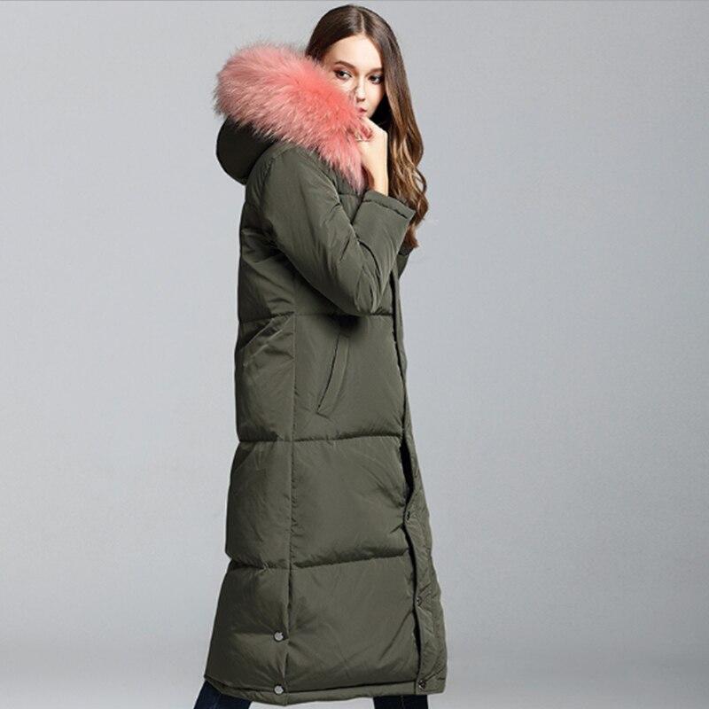 Grande taille Chaqueta Mujer hiver Parka vraie fourrure blanc canard vers le bas chaud manteau veste dame épaissir marque manteaux à capuche Invierno vestes