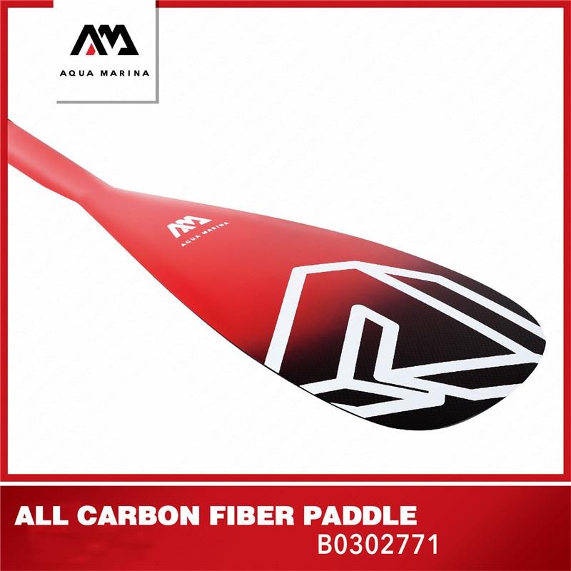 AQUA MARINA nouvelle mise à niveau carbone Pro tout en Fiber de carbone SUP Paddle gonflable SUP planche de surf Paddle Sport t-poignée course de surf