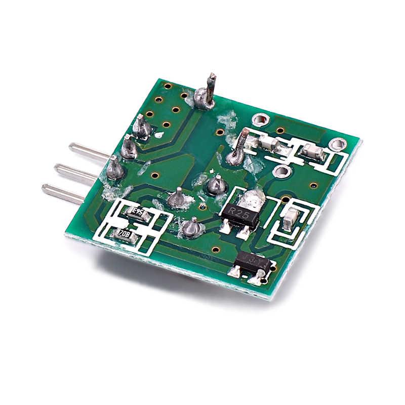 1 set/lote interruptor de Control remoto inalámbrico Módulo de módulo de voltaje de 315 Mhz Transmisor RF receptor de enlace Kit para Arduino