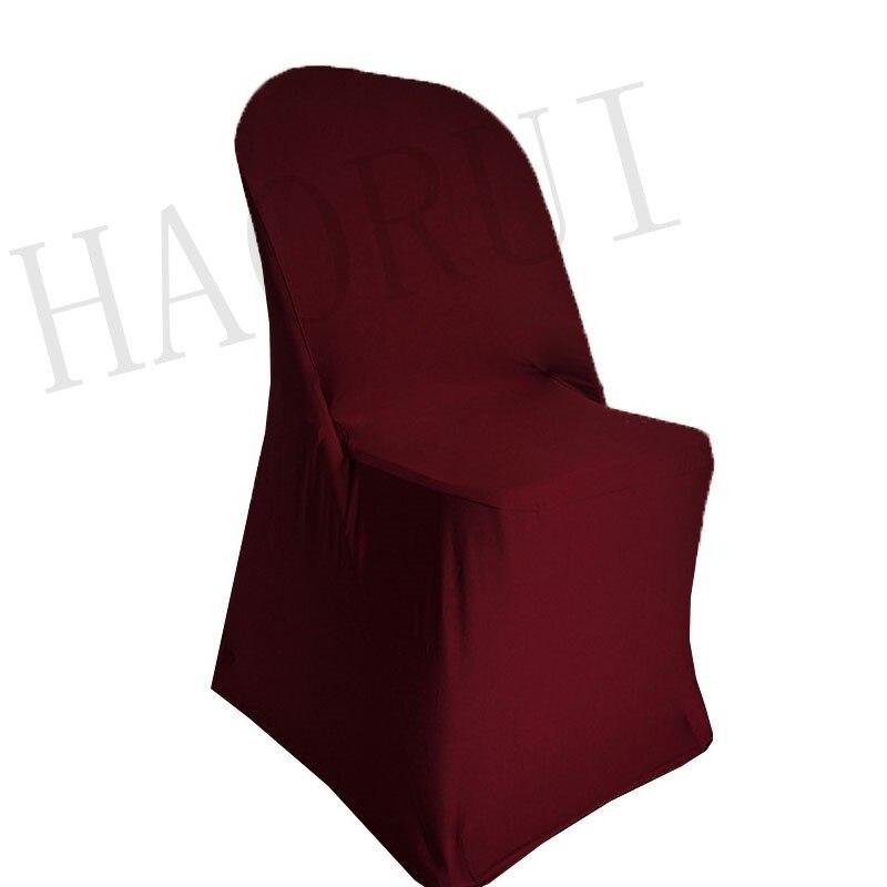 Aliexpress Com Buy 100pcs Burgundy Folding Fabric Dining