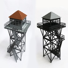 HO 1:87 scale Lookout tower model plastic Guard for train layout high quality