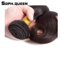 Sophqueen Virgin Hair Unprocessed Brazilian Body Bundle Salon Hair Natural Brown Human Hair Weave Soft Can Be Color