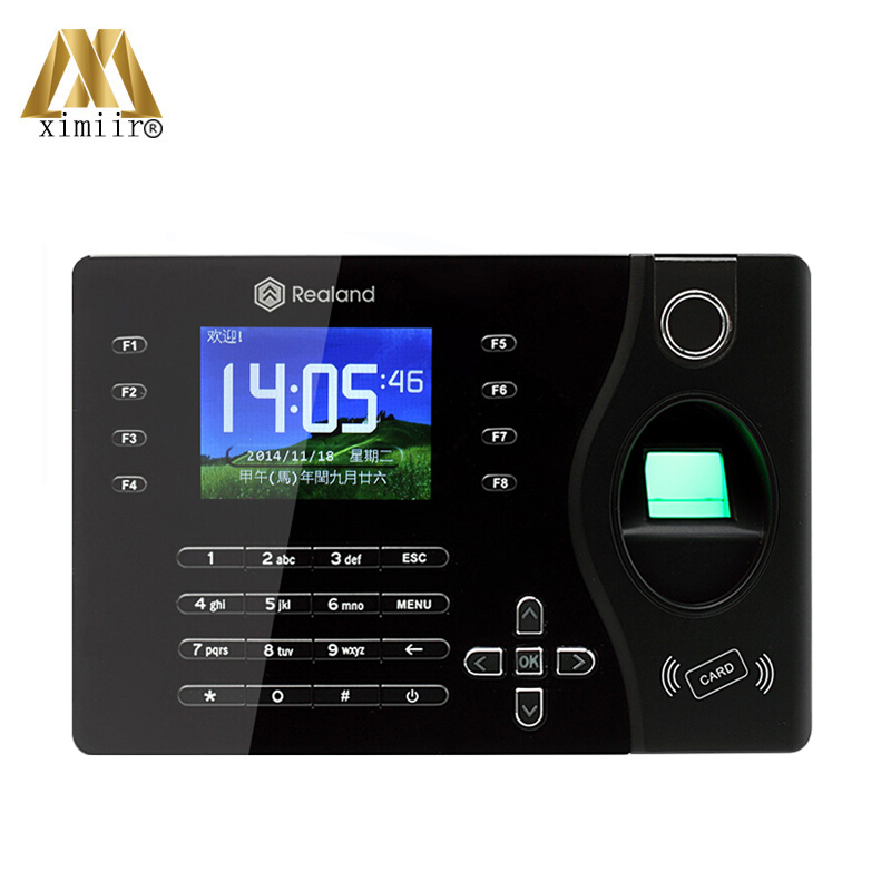 TCP/IP Ports Biometric Fingerprint 125KHz RFID Card Reader Time Attendance Clock Employee Recorder A-C081