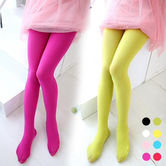 candy color girls leggings children warm stretch velvet girl kids soft pantyhose opaque dance leggings stocking - Buy Candy By Color
