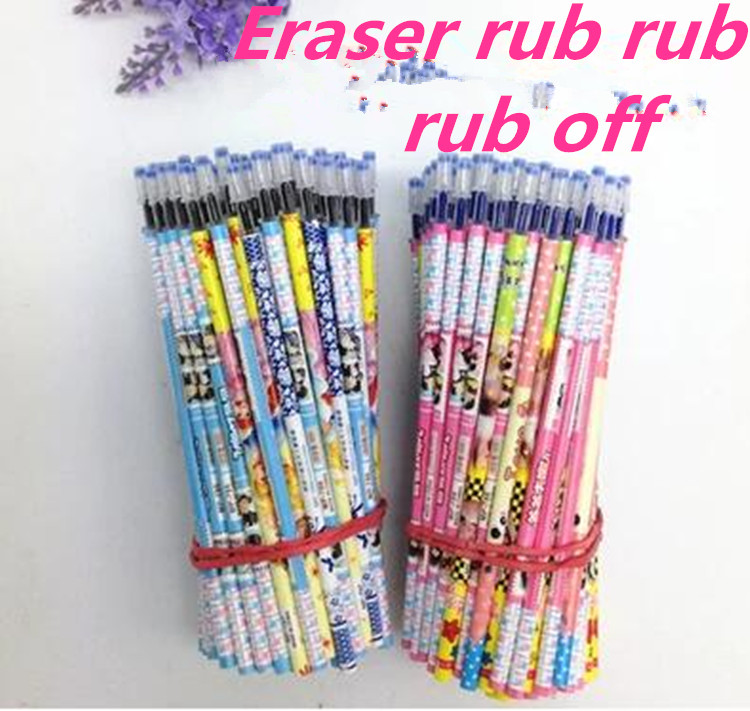21606/Authenticity  0.5mm / flower pole eraser erasable/gel pen core/ink cartridge /Needle for the core/office school supplies