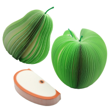 1 Pcs DIY Cute Apple Green Pear Notes Paper Fruit Vegetables Memo Pads Kawaii Stickers Paper Office Papelaria Supplies