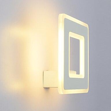 LED 12W Wall light Sconces LED Modern white/ warm white Metal Size 22*22*10cm 85-265v joyda xd ww12w 12w 1110lm 3000k 12 led warm white ceiling light ac 85 265v