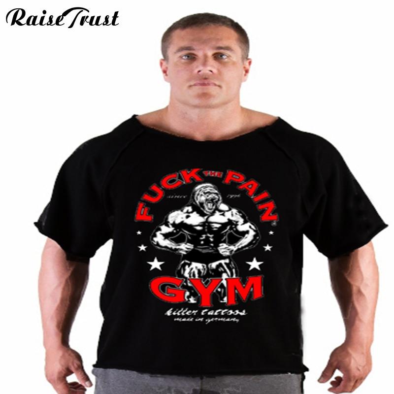 Мужская футболка для бодибилдинга, летняя футболка большого размера, футболка для бодибилдинга|clothing world|clothing vendorgym accessories | АлиЭкспресс