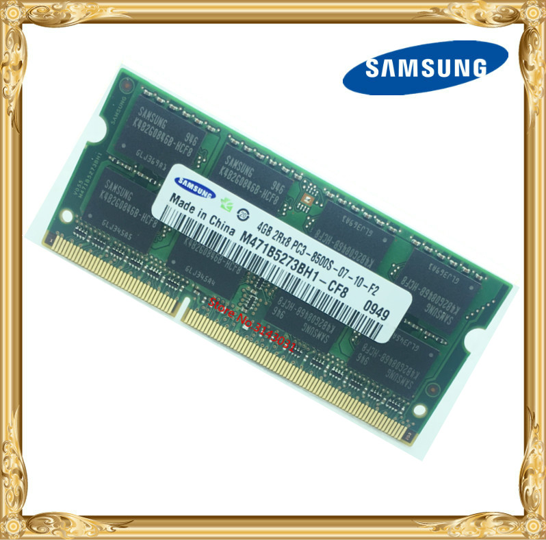 Samsung mémoire D'ordinateur Portable DDR3 4 GB 1066 MHz PC3-8500S portable RAM 8500 4G