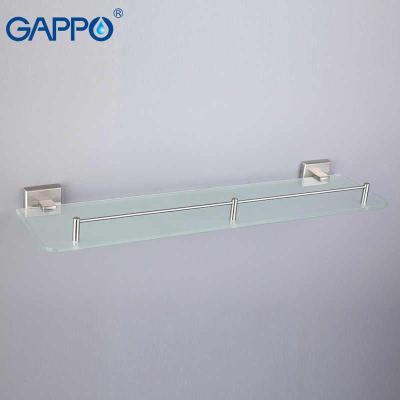 GAPPO szkło łazienka półki półka ze stali nierdzewnej łazienka wieszak na ręczniki do montażu na ścianie wieszak do ręczników wieszak na ręcznik