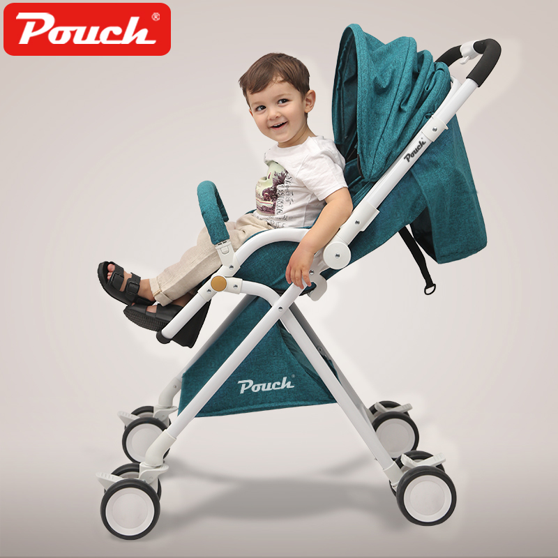 Pouch baby stroller ultra-light portable high landscape can sit to lie awning car folding baby carriage стоимость
