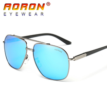 AORON Brand Design Polarized Sunglasses Driving Sunglasses Male Metal Frame Mirror Eyewear Accessories Sun Glasses For Men A324