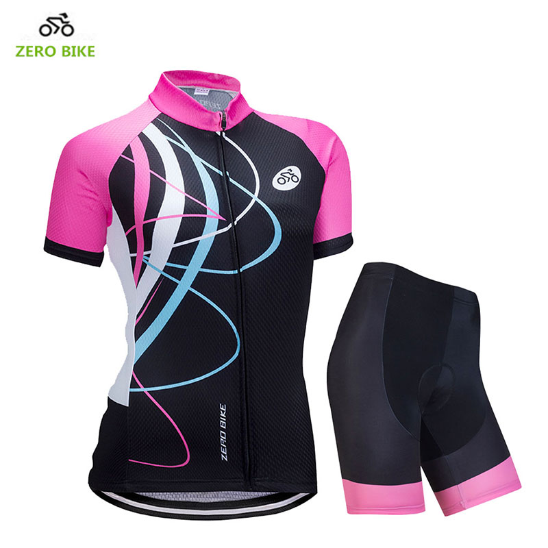 ZEROBIKE 2018 Quick Dry Short Sleeve Cycling Clothing Sets Women's Bike Riding Wear Ciclismo Bicycle Jersey Shorts 4D Gel Pad 2017 xintown women s cycling jersey sets outdoor mtb bike riding short sleeve anti sweat clothing shorts bib with 3d gel pad