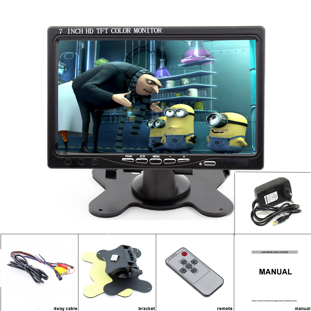 "Image 5 - Podofo 7"" LCD Monitors HD LCD Mini Computer & TV Display CCTV Security Surveillance Screen With HDMI / VGA / Video / Audio Input-in CCTV Monitor & Display from Security & Protection"