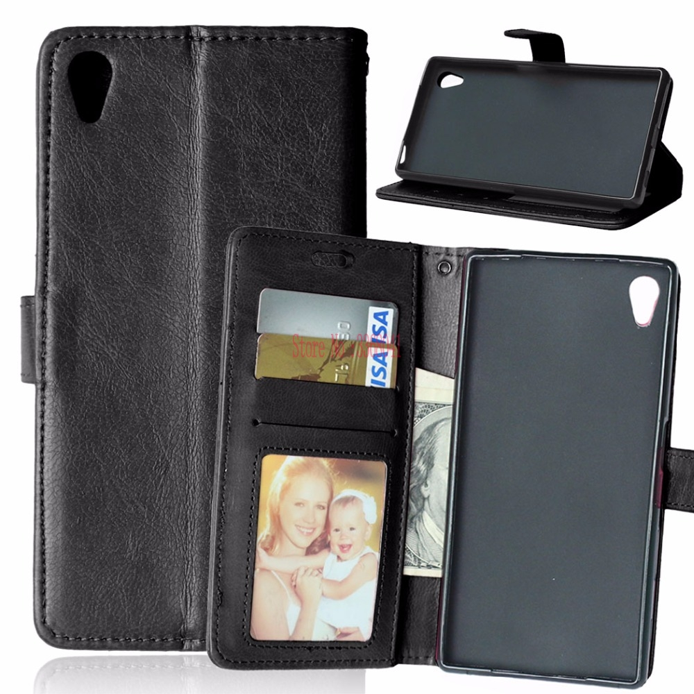 Flip Case for <font><b>Sony</b></font> Xperia Z5 Z 5 Dual <font><b>E6633</b></font> E6603 E6683 E6653 Wallet Stand Phone Leather Cover for <font><b>SONY</b></font> Z5 E 6633 6603 6683 6653 image