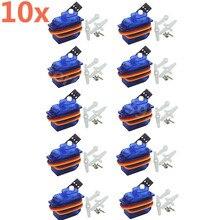 10 pces SG 50 5g mini/micro servo motor digital para rc remoto avião carro helicópteros avião barco trex sg50