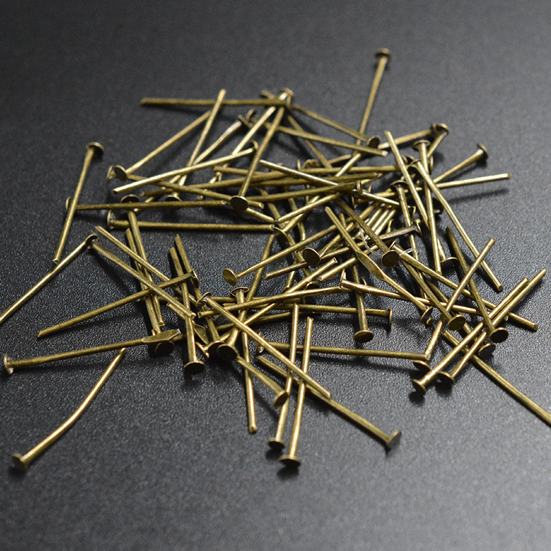 FLTMRH   24mm flat Head Pins eye pin jewelry making stud Needles tassel earrings filigree crimps choker necklace Clasp Hook kit