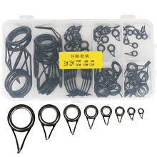 75pcs Saltwater Fishing Tip Stainless Steel Guides Rings Repair Kit With Fishing Tackle Box Spinning Pole Accessories