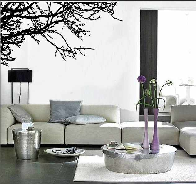 Large 60x140cm Black Tree Branches Wall Sticker Home Decor Decals For Living Room Bedroom Stickers