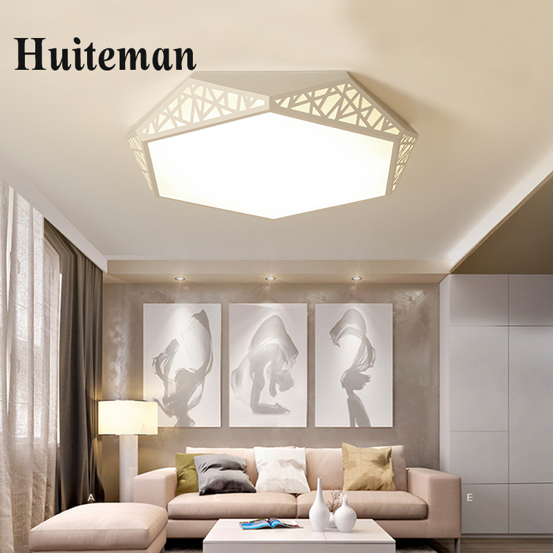 Modern LED Ceiling Light Lighting Fixture Lamp Surface Mount Living Room Bedroom Bathroom Remote Control Decoration ceiling lamp modern remote control led lamp ceiling light fixture living room bedroom christmas decoration for home lighting white metal 220v
