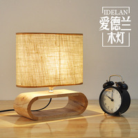 Modern Nordic Wooden table lamp Living Room Restaurant Hanging lights Stylish Logs LED Home Light