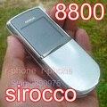 100% original nokia 8800 sirocco 8800d mobile del teléfono celular 2g gsm desbloqueado y garantía de un año