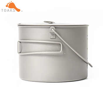 TOAKS POT-1300-BH Titanium Outdoor Camping Hanging Pot With Bail Handle Easy to Carry 1300ml 141g - SALE ITEM Sports & Entertainment
